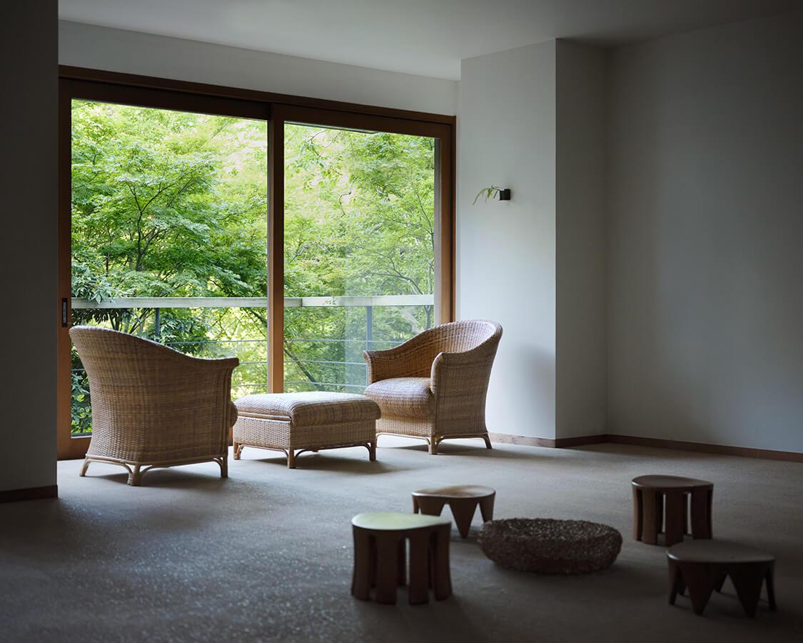 図書室の椅子